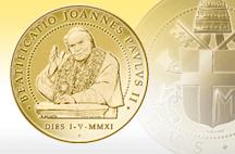 Beatificazione Giovanni Paolo II: l'IPZS realizza la medaglia ufficiale.