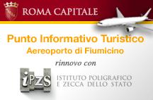 L'IPZS in esposizione al PIT dell'Aeroporto di Roma. Rinnovata fino al 2012 la convenzione tra il Poligrafico dello Stato ed il Comune di Roma.