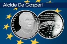 Dall'Ipzs una moneta celebrativa per Alcide de Gasperi