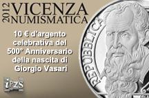 9^ Edizione dei Premi Internazionali di Vicenza Numismatica 2012: all'IPZS il 2° Premio per la moneta più bella
