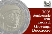 700° Anniversario nascita Boccaccio: l'IPZS presenta la moneta da 2 euro