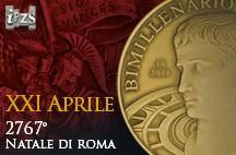 Una medaglia dell'IPZS celebra il 2767° Natale di Roma