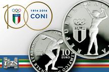 Una moneta IPZS celebra i 100 anni del CONI