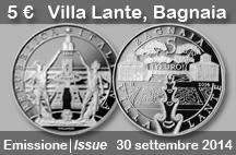 Serie Ville e Giardini Storici: emissione moneta Villa Lante-Bagnaia