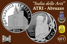 """L'IPZS presenta la moneta """"Atri, Abruzzo"""" nel Comune di Lecce nei Marsi"""