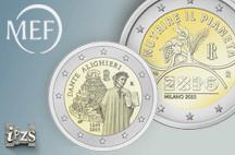 """IPZS-MEF: in arrivo le """"2 euro"""" commemorative per Dante Alighieri ed Expo 2015"""
