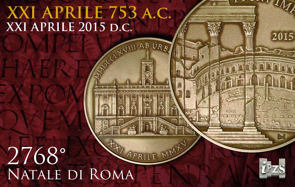 La medaglia IPZS celebra il 2768° Natale di Roma