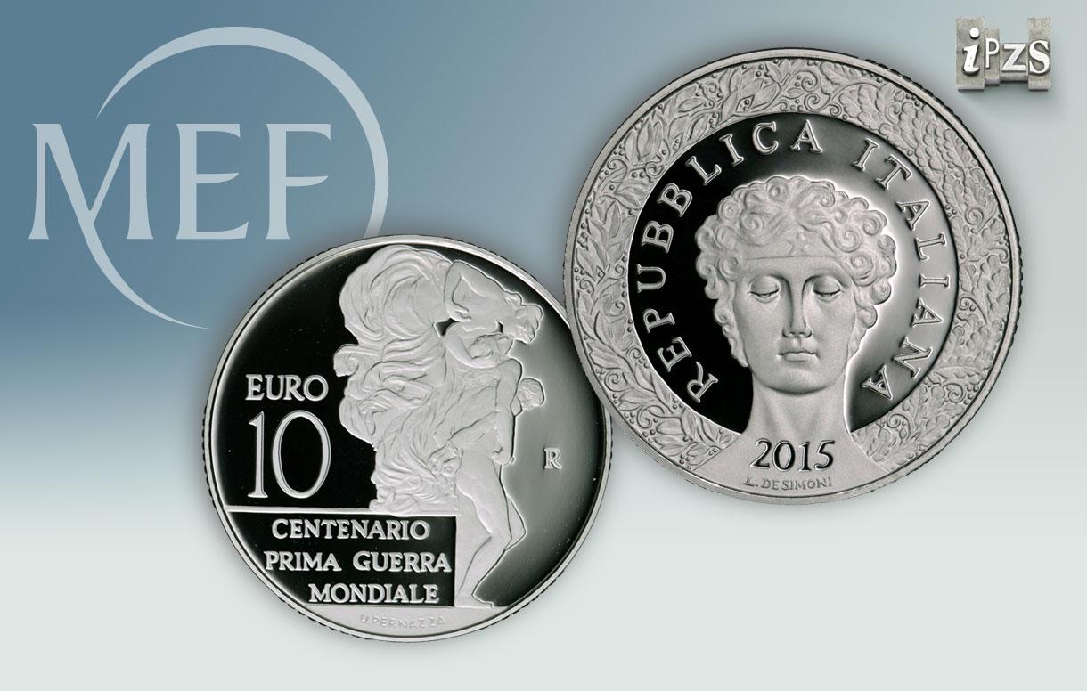 Nuova emissione numismatica: una moneta per il Centenario della Prima Guerra Mondiale