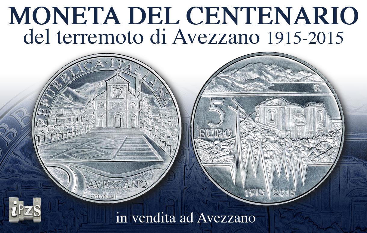 Centenario Terremoto Avezzano: la moneta in vendita