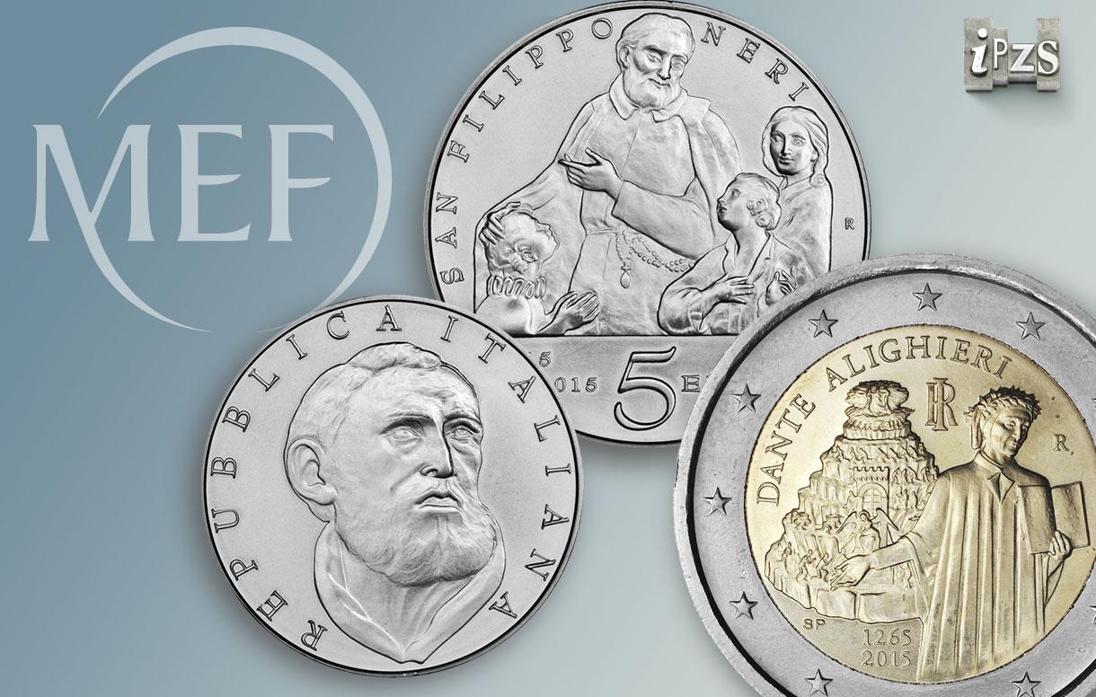 Novità IPZS prossima emissione numismatica 2015: blister da due monete 2 euro dedicate a Dante