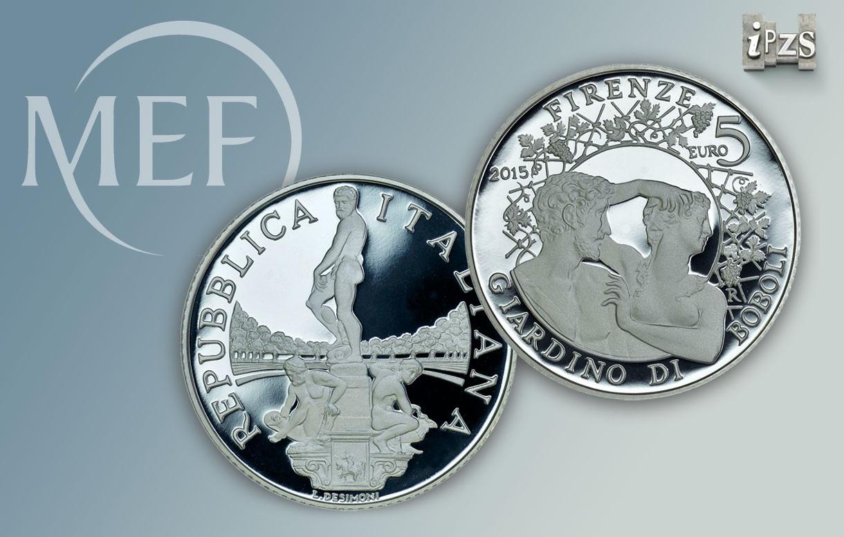 Una moneta da 5 euro per il Giardino di Boboli