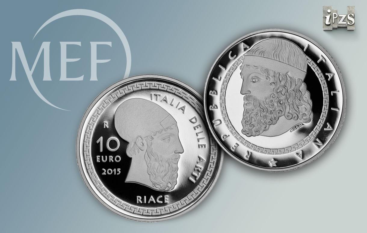 Serie Italia delle Arti: una moneta dedicata ai Bronzi di Riace