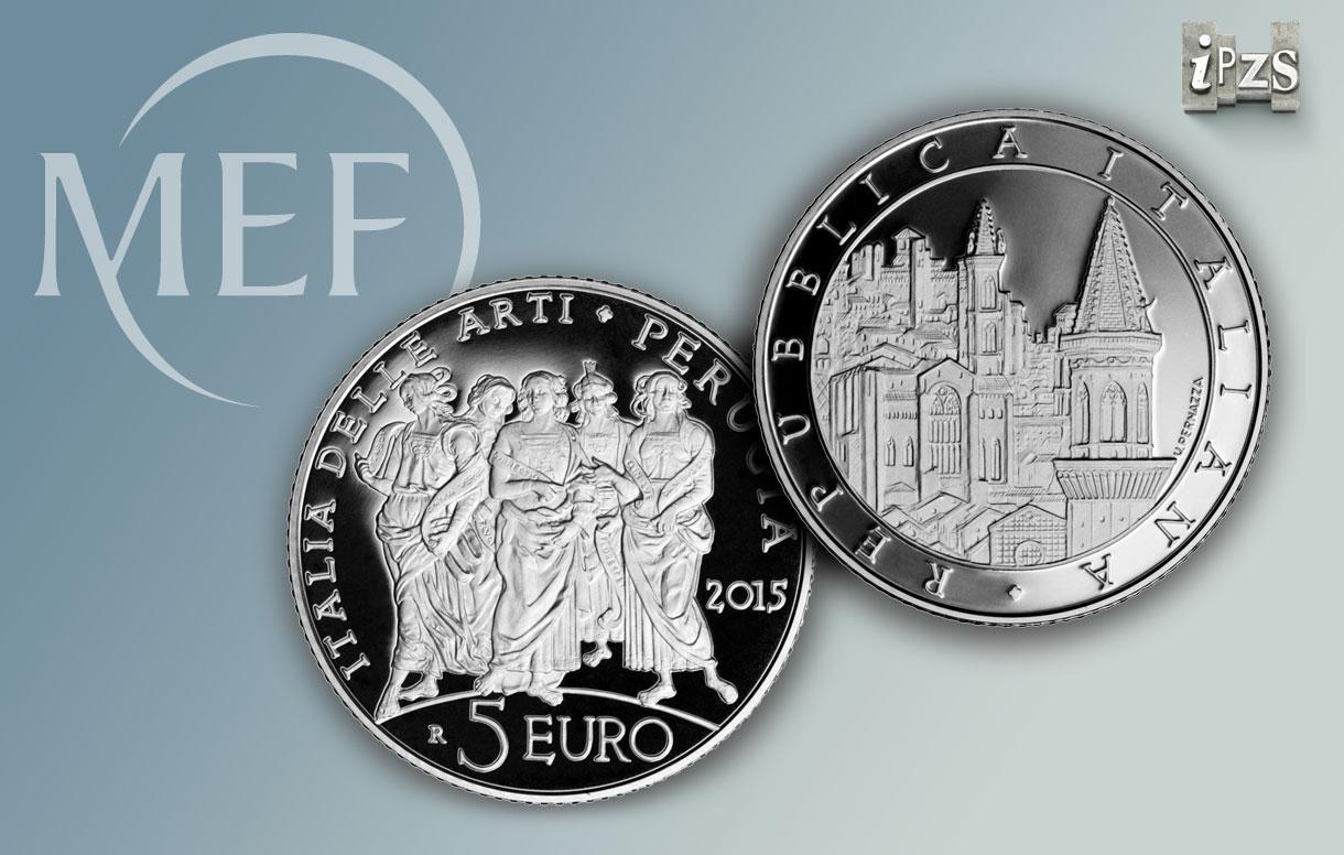 Monetazione 2015: Perugia nella seconda emissione della Serie Italia delle Arti