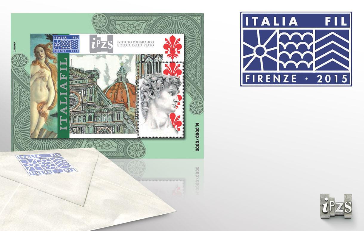 Prima edizione Italiafil: dall'IPZS un Foglietto Erinnofilo per Firenze