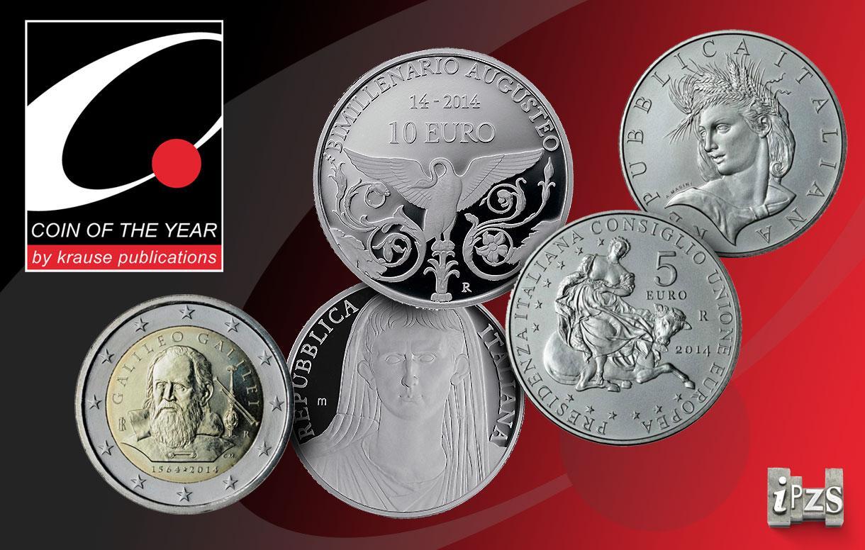 Coin of the Year Awards 2016: tutte le nomination IPZS