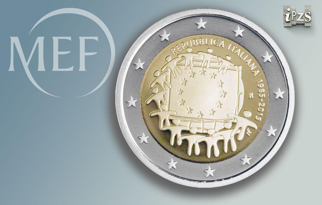 30° Anniversario Bandiera UE: emessa la 2 euro scelta dai cittadini europei