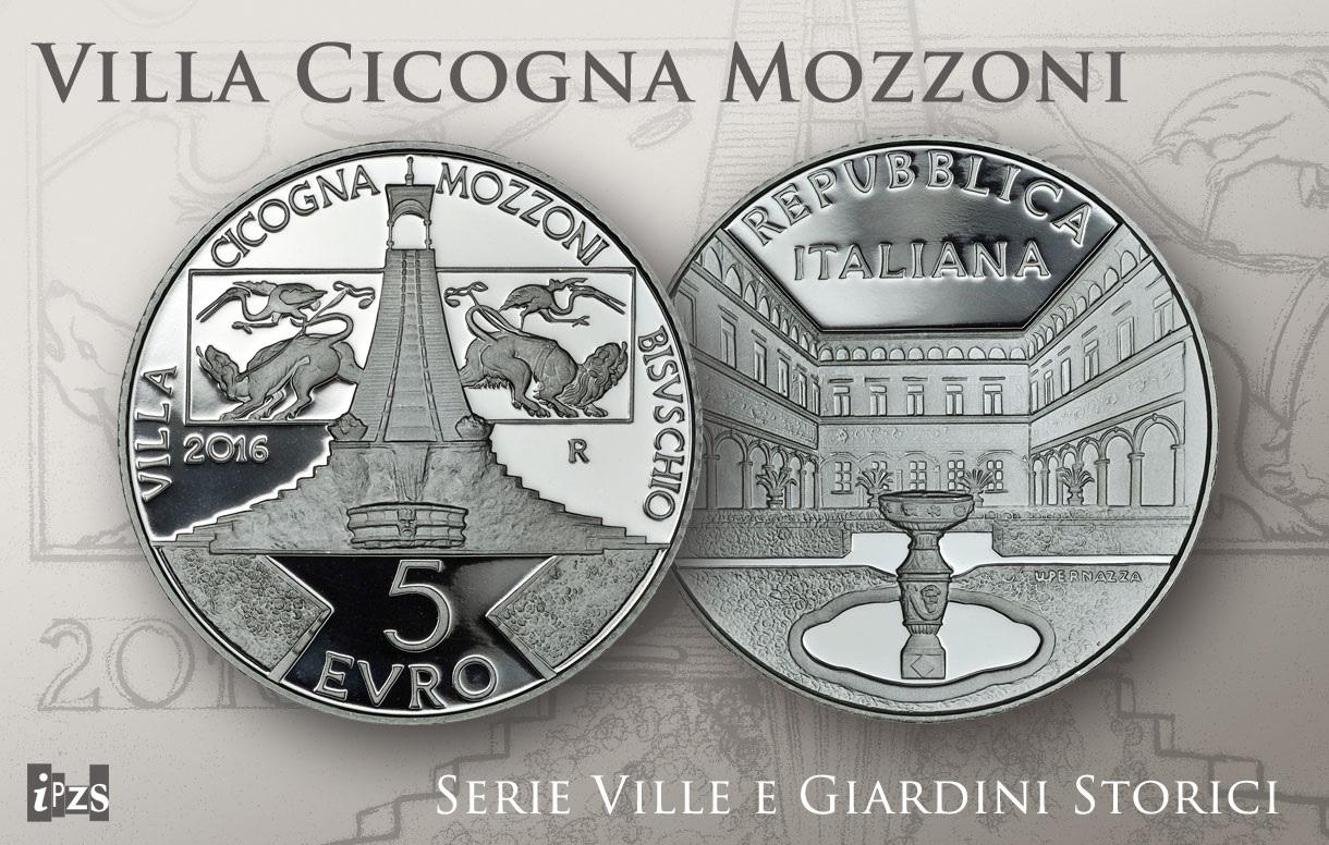 Numismatica, Serie Ville e Giardini Storici: conio d'argento incornicia il capolavoro rinascimentale