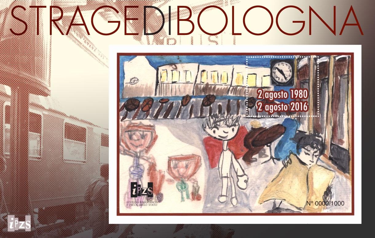 2 agosto: il Foglietto erinnofilo per l'Associazione tra i familiari delle vittime della strage di Bologna