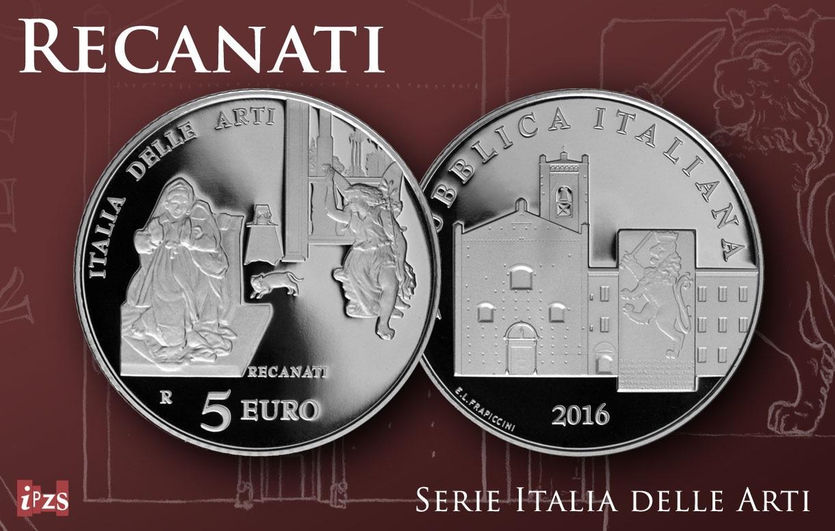 Italia delle Arti: emissione moneta dedicata a Recanati. Sabato la presentazione