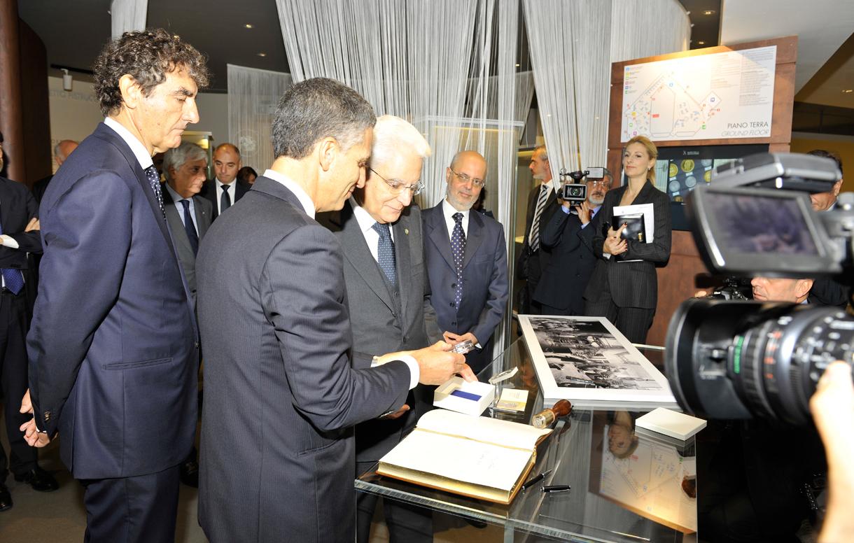 Il Presidente della Repubblica, Sergio Mattarella, inaugura la nuova sede del Museo della Zecca di Roma