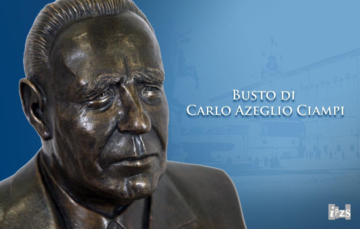 Il busto in bronzo di Carlo Azeglio Ciampi a via XX Settembre