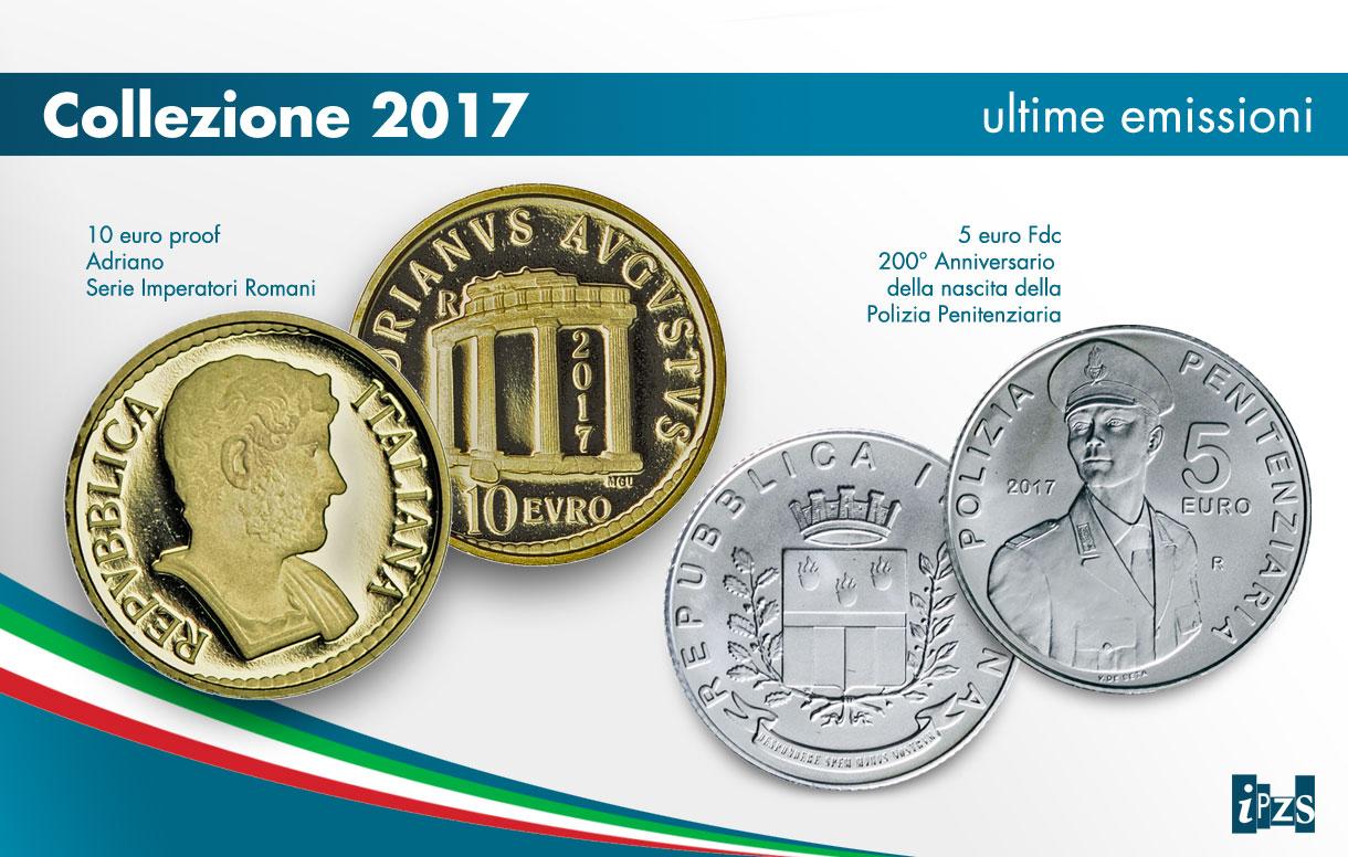 La prima micro moneta d'oro italiana e la 5 euro argento per il 200° della Polizia Penitenziaria inaugurano le emissioni del 2017