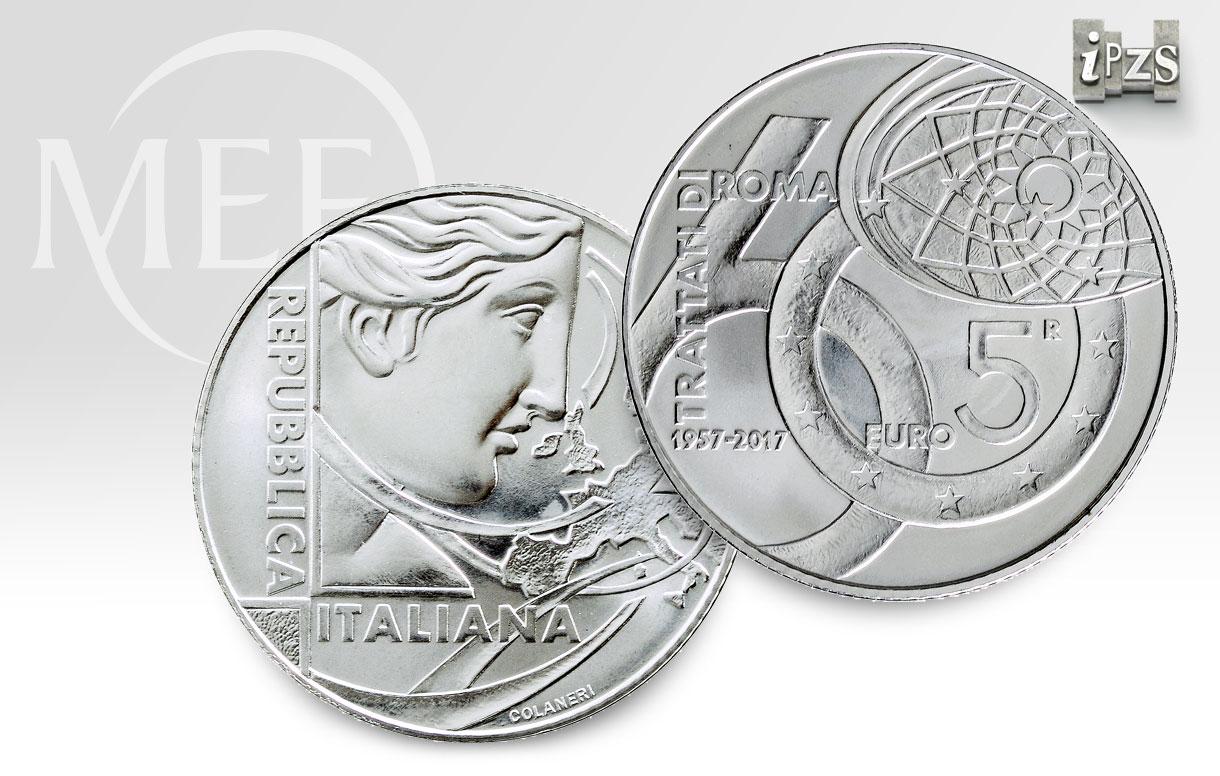 Trattati di Roma: celebriamo il 60° con una moneta in argento della Repubblica Italiana