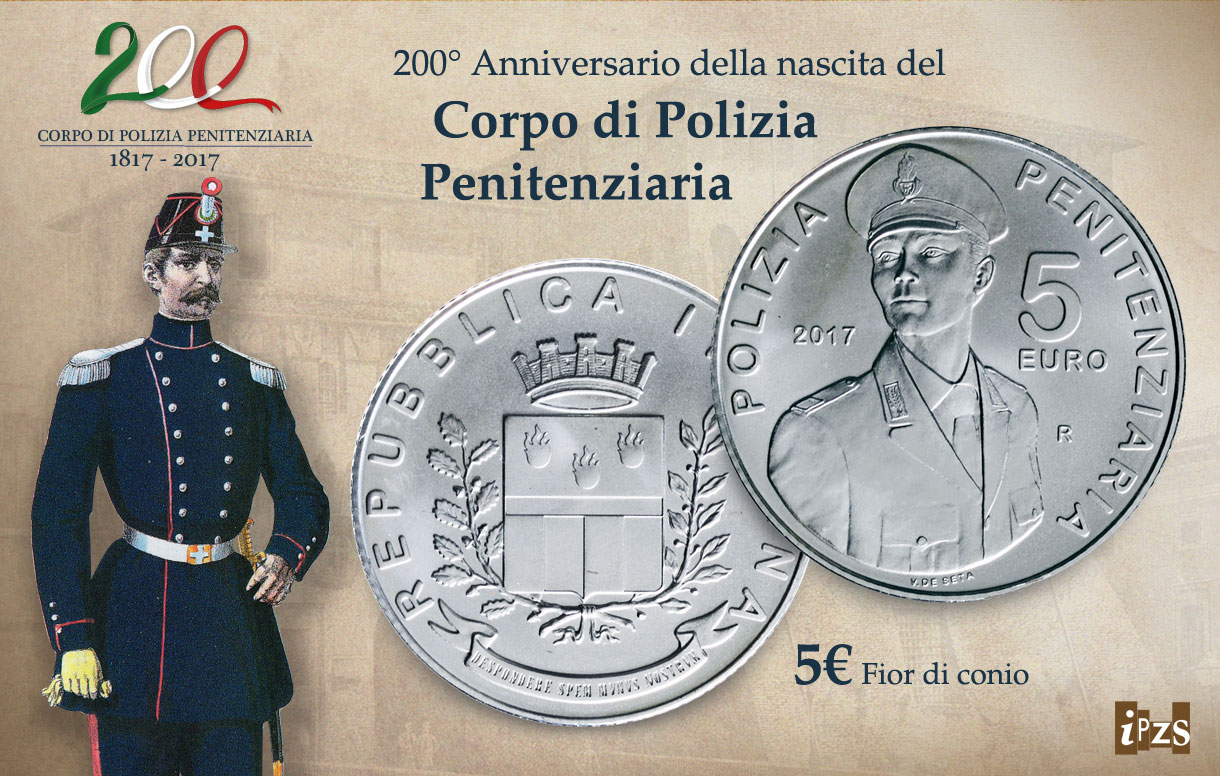 200 anni di Polizia Penitenziaria: presentiamo la moneta