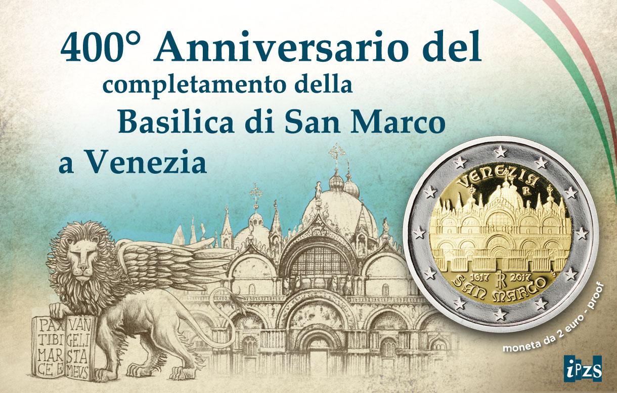 400° Basilica San Marco: presentazione della prima 2 euro del 2017