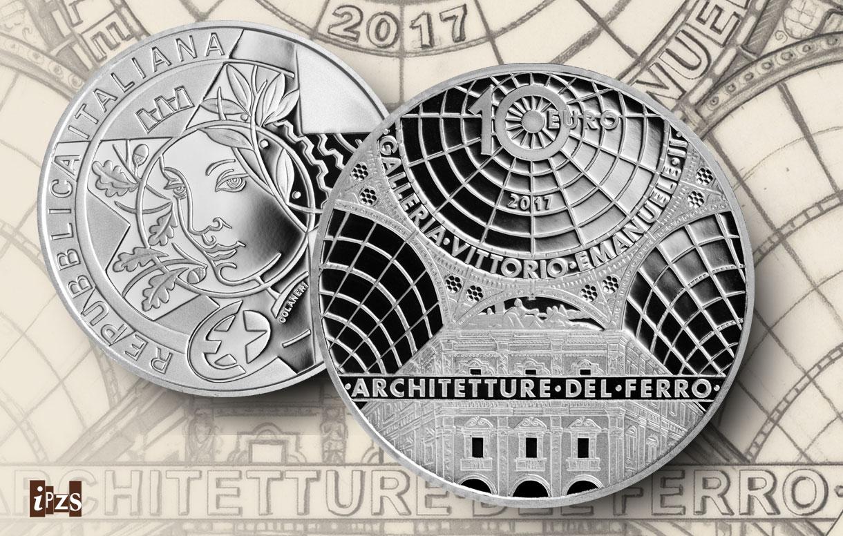 La Galleria Vittorio Emanuele II di Milano per la nuova emissione numismatica 2017