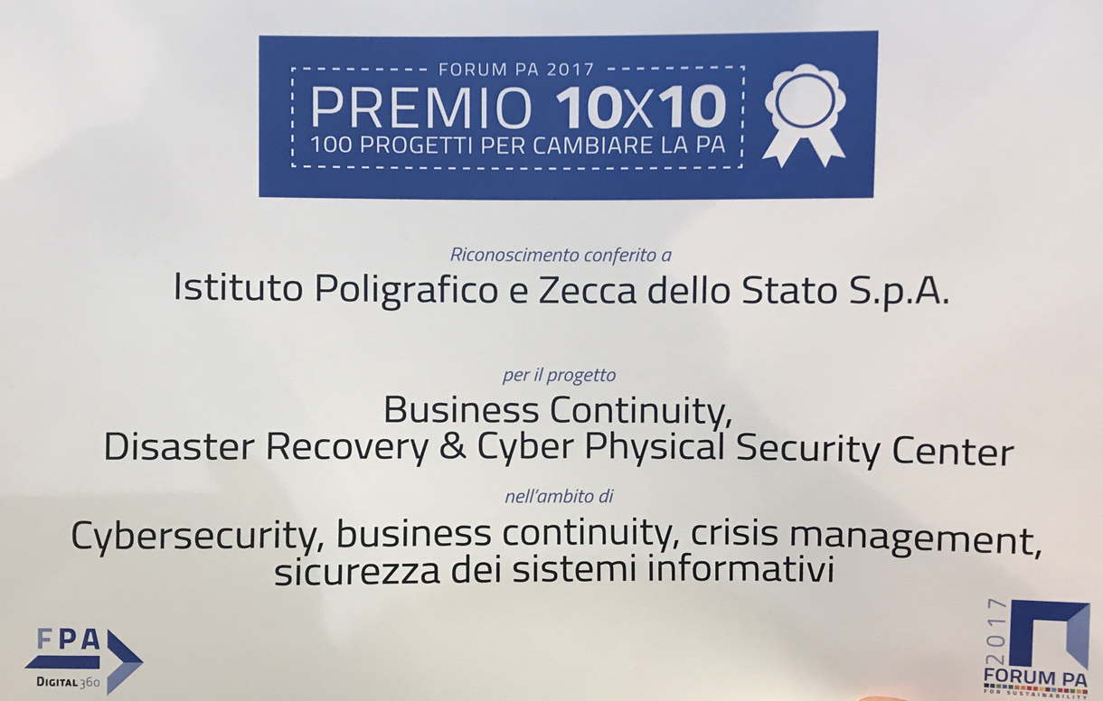 Forum PA 2017: il nostro riconoscimento