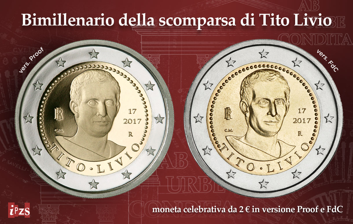 La 2 euro del bimillenario della scomparsa di Tito Livio
