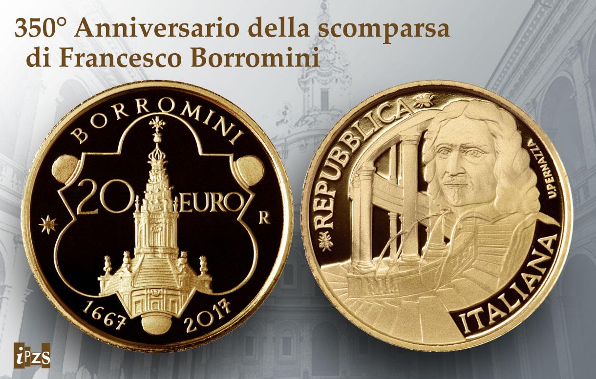 Borromini: una moneta d'oro per i 350 anni dalla scomparsa