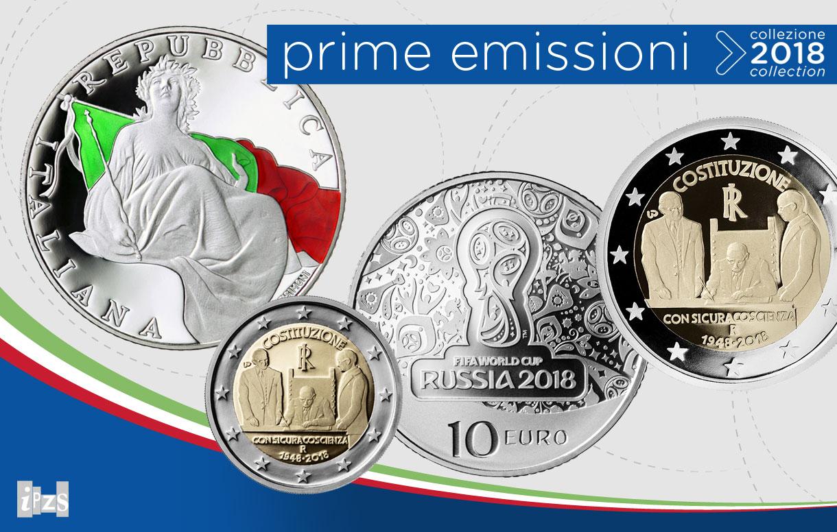 Le prime monete della collezione 2018