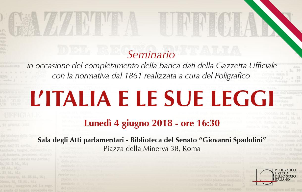 L'Italia e le sue leggi - Dal Regno ai giorni nostri