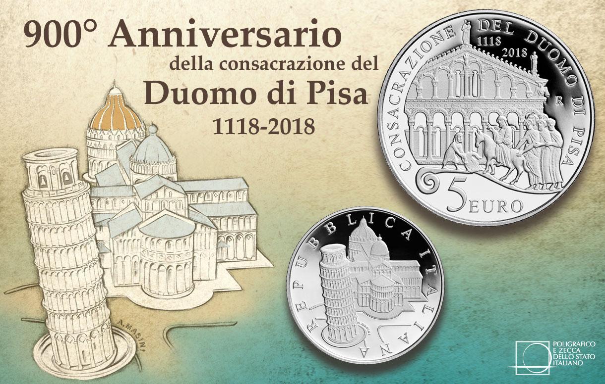 Pisa, ecco la moneta per i 900 anni della consacrazione del Duomo
