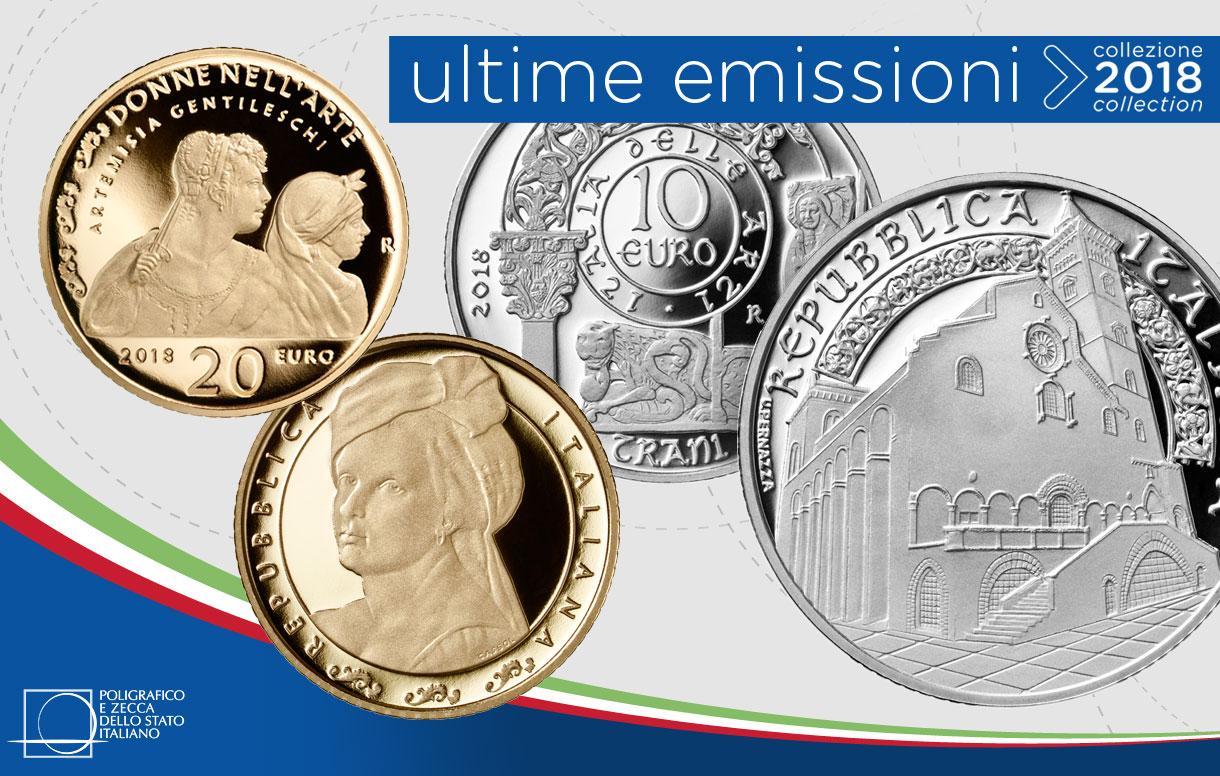 Collezione Numismatica 2018: due monete per celebrare l'arte e le figure femminili del nostro Paese