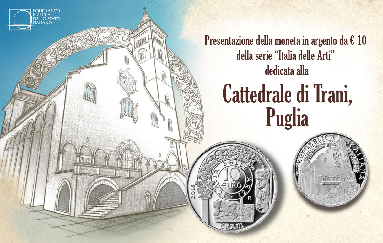 La Cattedrale di Trani si specchia nella sua moneta in argento