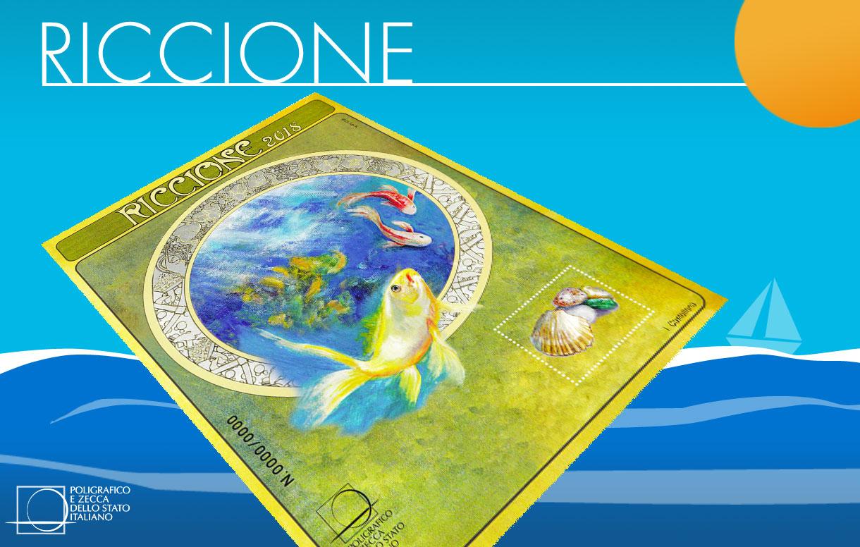 Al 68° RICCIONEFIL con il foglietto erinnofilo dedicato e la collezione numismatica 2018