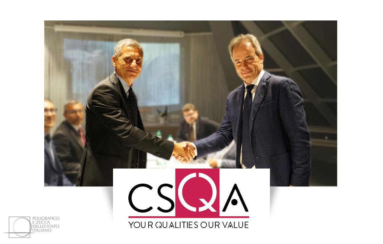 Tracciabilità: accordo Poligrafico-CSQA Certificazioni
