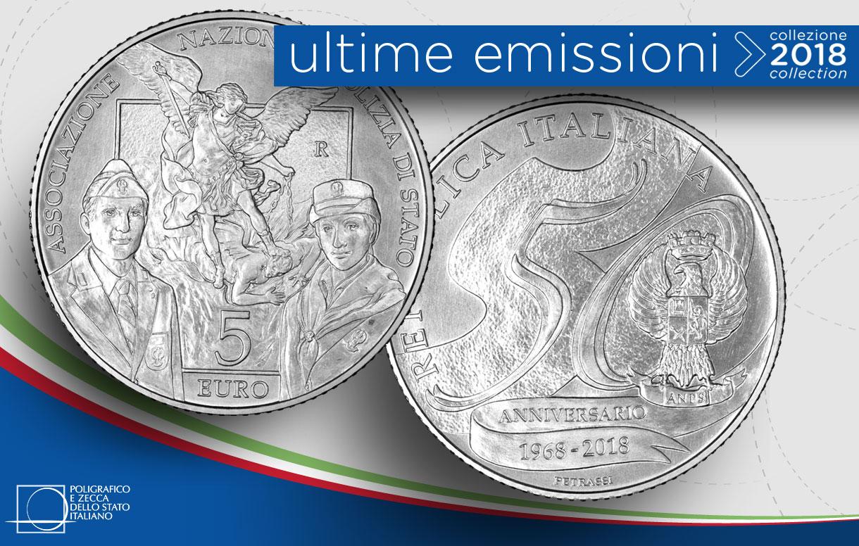 In argento la moneta per l'Associazione Nazionale Polizia di Stato