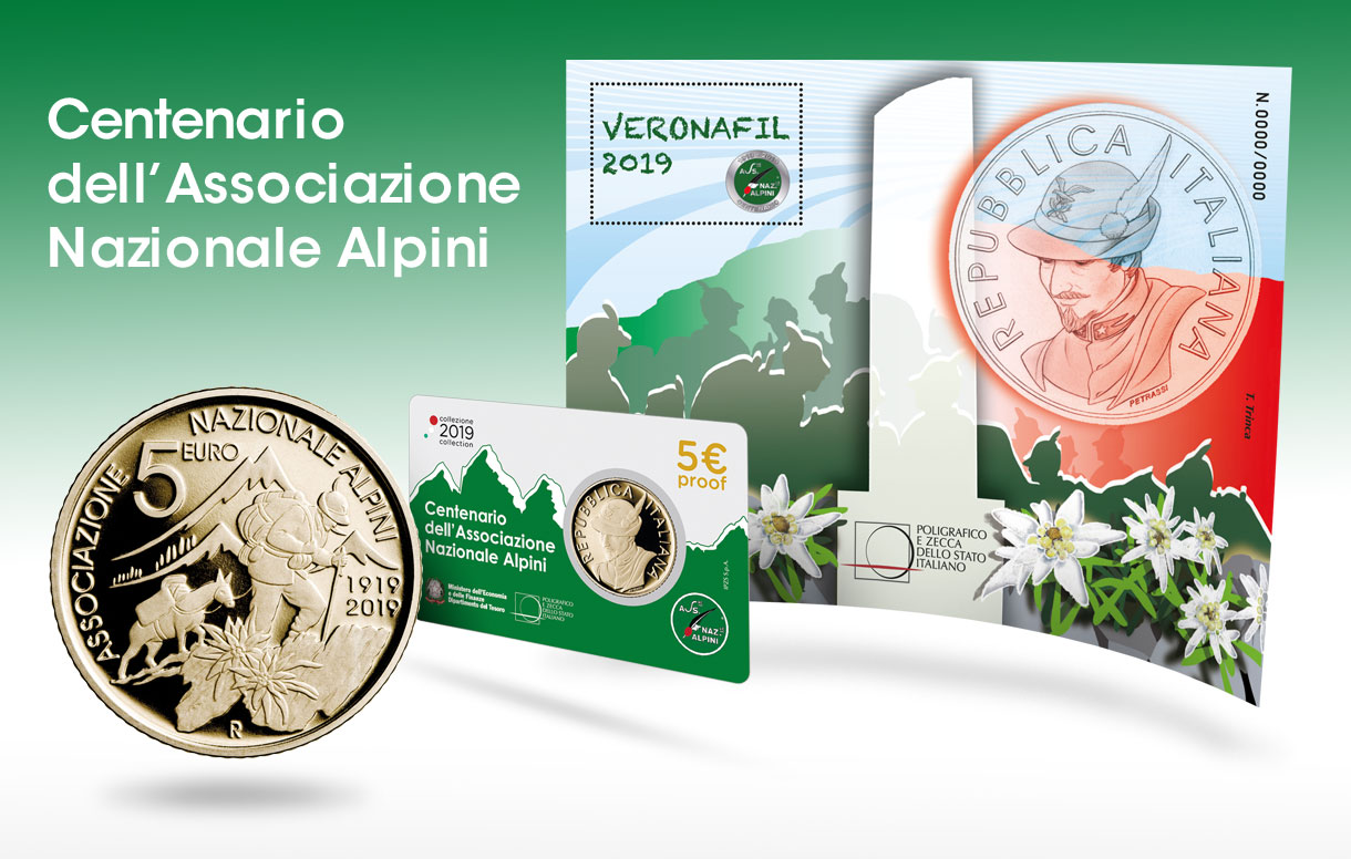 Il Poligrafico a Veronafil 2019 con uno speciale foglietto erinnofilo dedicato agli Alpini