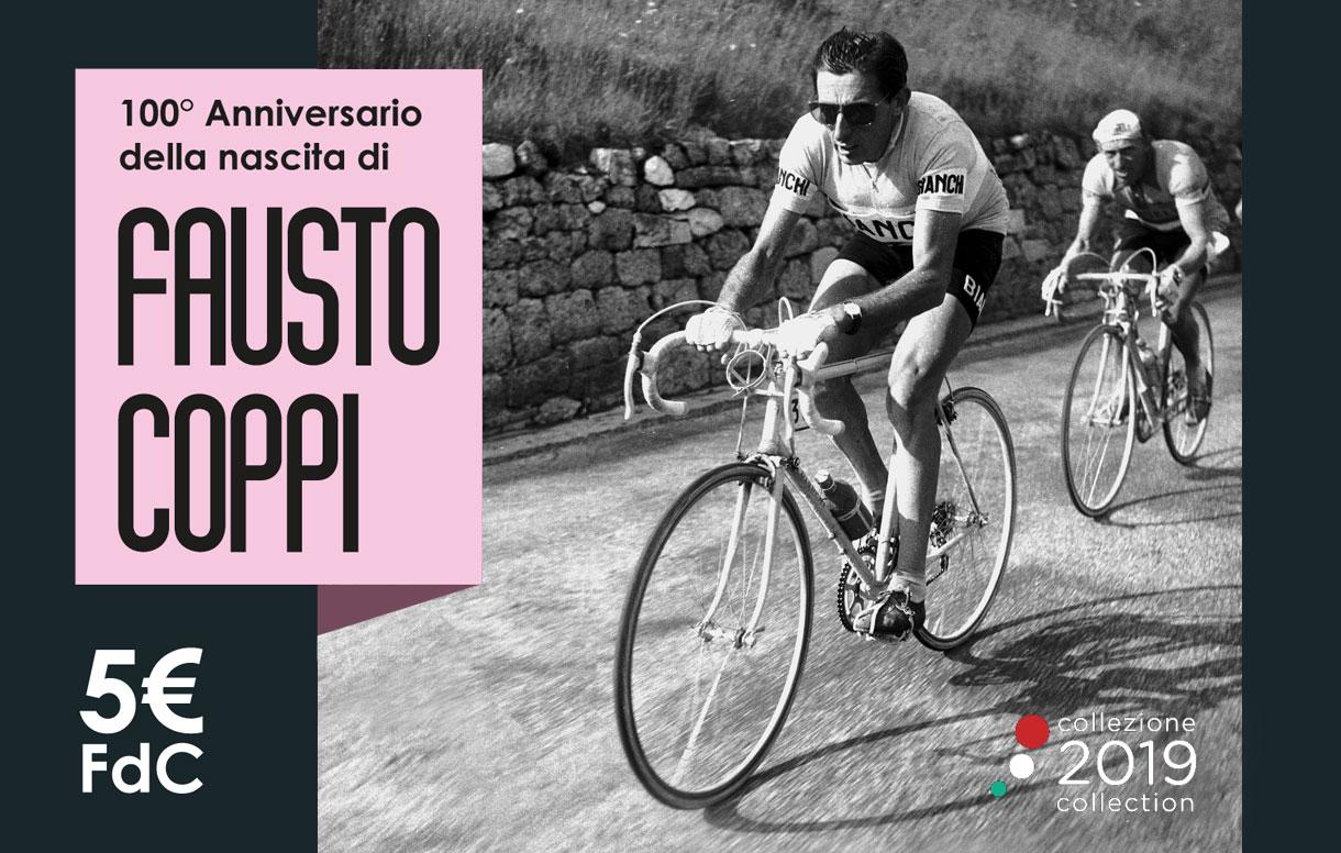 Una moneta celebrativa per ricordare il centenario della nascita del grande Fausto Coppi