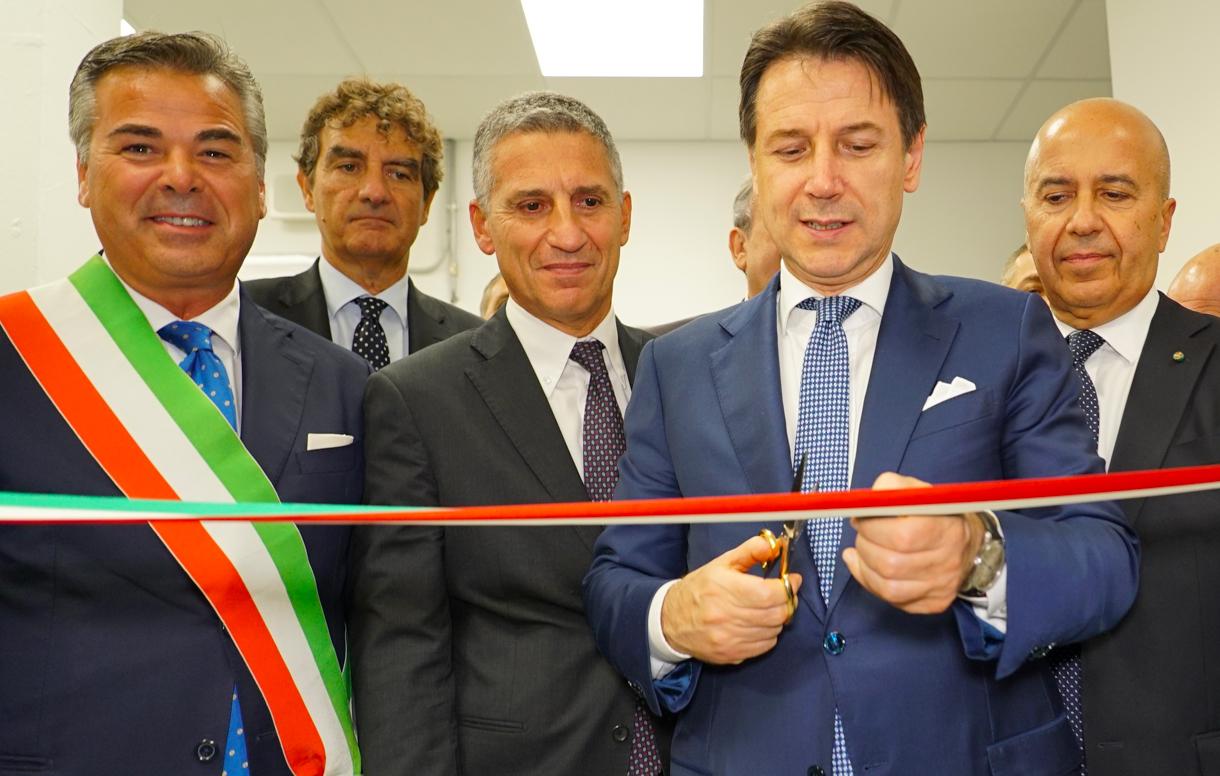 Il Presidente del Consiglio Giuseppe Conte ha inaugurato Valoridicarta S.p.A. presso lo Stabilimento di Foggia