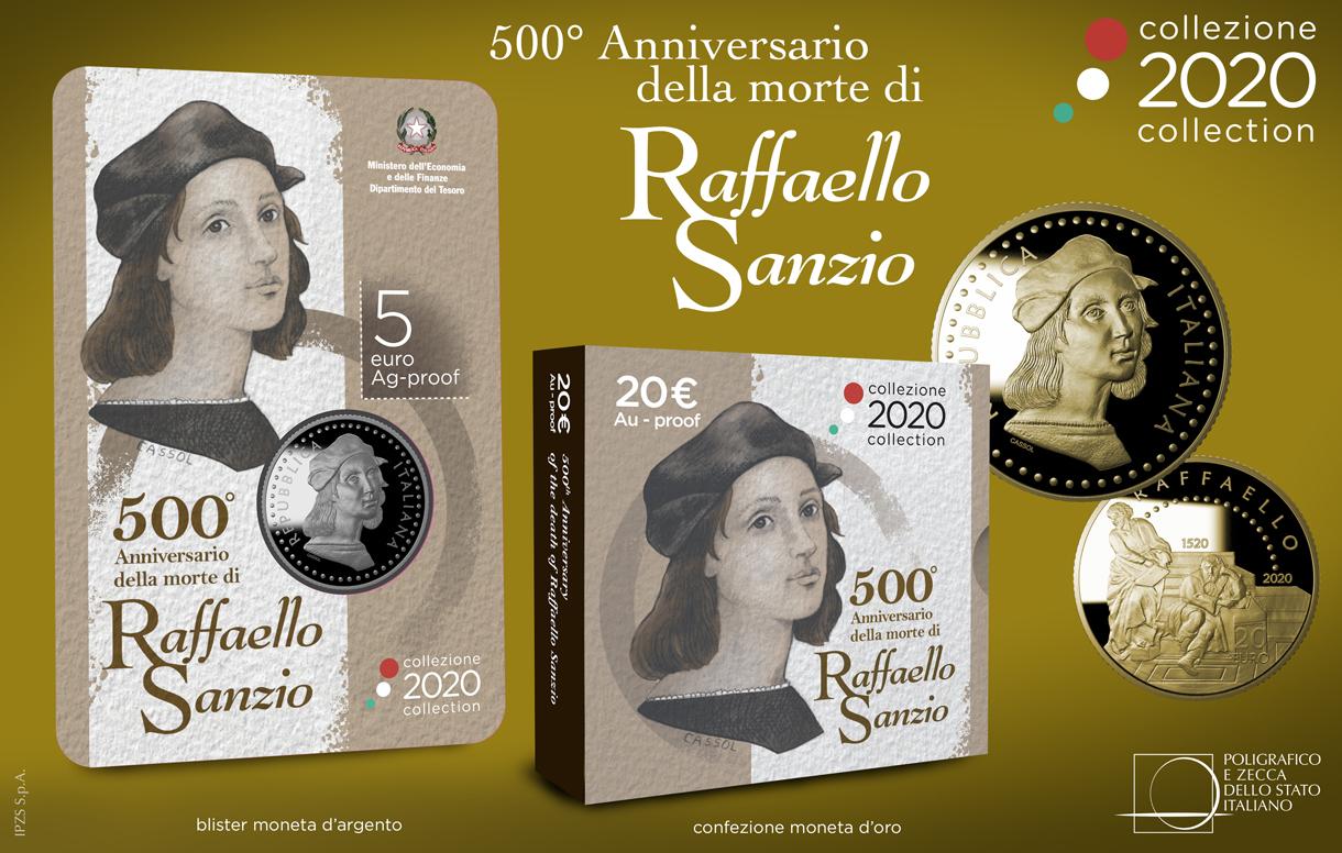 Collezione Numismatica 2020: due nuove monete per celebrare l'arte e il genio di Raffaello Sanzio