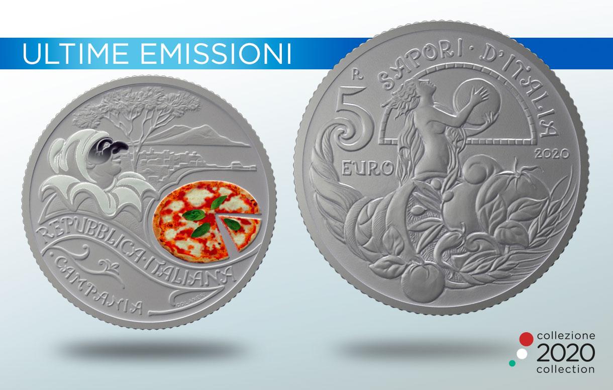 Una moneta della Collezione 2020 celebra Pizza e Mozzarella, simbolo della cultura enogastronomica italiana