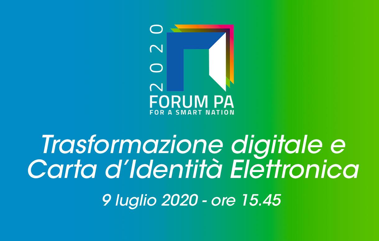 ForumPA2020: la carta d'identità elettronica per una nuova cittadinanza digitale