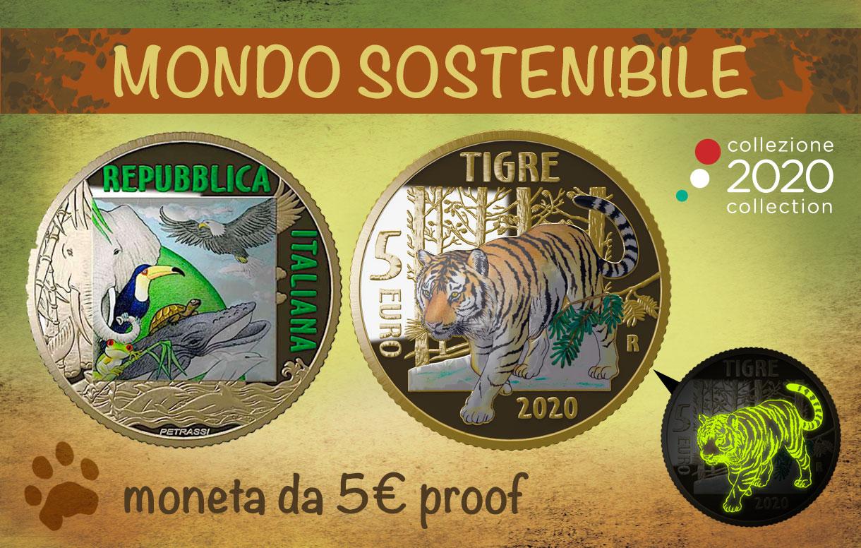 Il Ministero dell'Economia e delle Finanze emette la moneta fosforescente dedicata alla Tigre