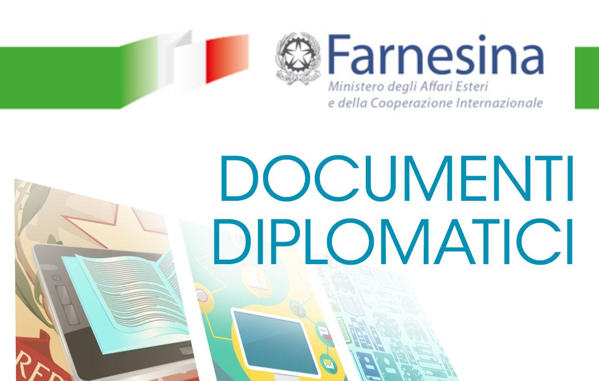 I più importanti documenti storico diplomatici dell'Italia online nel portale Politica estera e Storia della Farnesina