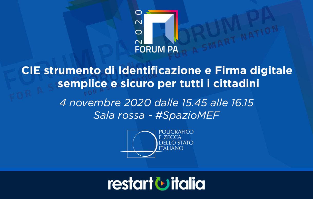 """Torna ForumPA 2020 """"Restart Italia"""" l'appuntamento con le migliori esperienze d'innovazione nella PA"""